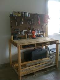 diy pallet work table pallet workbench totally want to do this for my craft desk