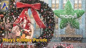 Macy S Christmas Decorations Macy U0027s Holiday Parade At Universal Orlando Full 2016 Parade