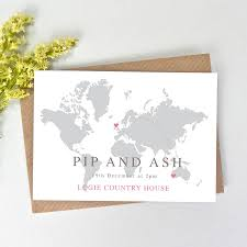 world map wedding invitation by paper and inc notonthehighstreet com
