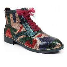 Decorated Walking Boot Boots Womens Irregular Choice