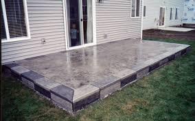Concrete Backyard Design Concrete Patio Pictures Gallery - Concrete backyard design ideas