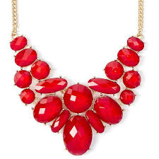 red chain necklace images 52 red chain necklace fashion leather chain water drop red jpg