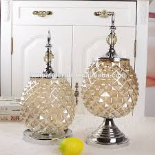 Whole Sale Home Decor 2016 India Clear Handmade Crystal Glass Home Decor With Chrome