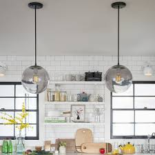 Short Pendant Light Fixture by Isaac Sconce Steel Short Arm Schoolhouse Electric