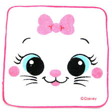 small marie aristocats cat face bow tie print handkerchief face
