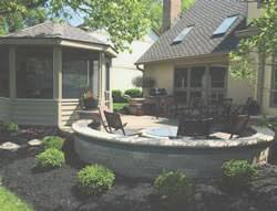 Gazebo Fire Pit by Gazebo Flagstone Patio And Fire Pit Creating An Outdoor Living
