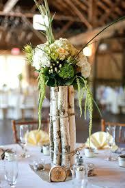 Wedding Flowers Greenery Birch Tree Wedding Decorations Rustic Brown Green Ivory Barn