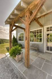 hand build architectural wood framework model house reclaimed barn wood timber frame front entry home pinterest