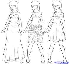 how to draw clothes step by step draw dresses step by step