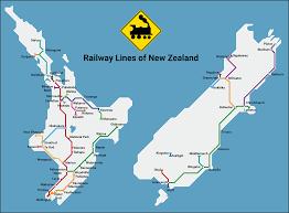 New Zealand Map Metro Network Map Of New Zealand Railway Lines Newzealand