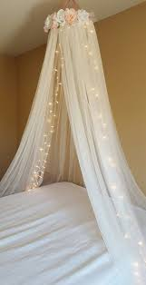 Bedroom Impressive Crown Ba Bed Canopy Drape Mosquito Net Bowknot