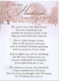 grave card my dear husband i miss you at christmas free card