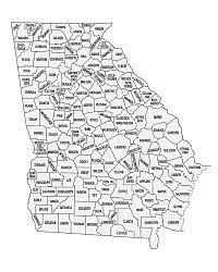 county map ga printable county map
