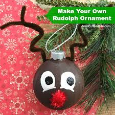 how to make your own rudolph ornament