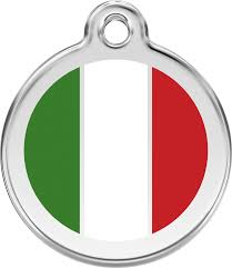 Flag With Red Circle Red Dingo Pet Id Tags With Free Engraving And Delivery
