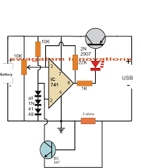 usb li ion battery charger circuit auto cut off and current