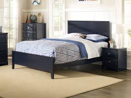 Youth Bed Frames Navy Blue Finish Youth Bed Frame Caravana Furniture