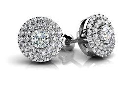designer stud earrings surrounded by diamonds designer stud earrings roco s jewelry