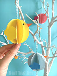 Easter Decorations To Make by Easy Paper Craft Easter Decoration Red Ted Art U0027s Blog