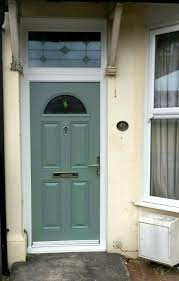 bullseye glass door ludlow 2 composite door in chartwell green with brilliante glass