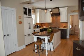 Kitchen Brick Backsplash Small White Island With Storage Industrial Bar Stools Black