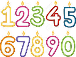 number birthday candles illustration of number shaped birthday candles stock photo