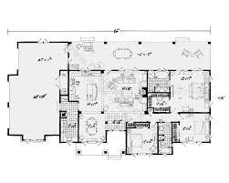 one level house plans side view house plans narrow lot house