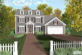 modern colonial house plans this image is the front elevation of these colonial house plans