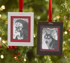 personalizable grosgrain frame ornament pottery barn