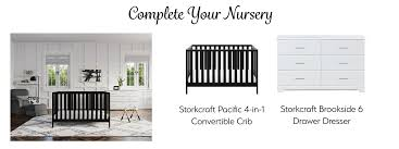 Storkcraft Convertible Crib by Amazon Com Storkcraft Avalon Upholstered Swivel Glider Midnight