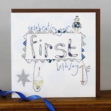 happy 1st birthday card for a boy by molly mae