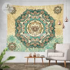 bohemian tapestry lotus mandala tapestry wall hanging spiritual