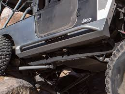 jeep mini tj yj cj mini boat side rocker guards w bars steel genright