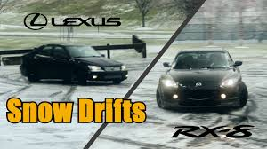 lexus is300 tires size mazda rx8 u0026 lexus is300 snow drifting youtube