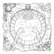 mature coloring pages finally the witcher gets its own coloring book complete with bath