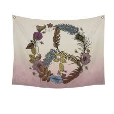 botanical peace wall tapestry stratton home decor botanical peace wall tapestry