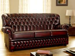 Cheap Red Leather Sofas by Chesterfield Leather Sofa Singapore Centerfieldbar Com