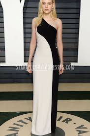 asymmetrical black and ivory one shoulder evening dress nicola