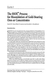 how to write the theory section of a research paper the biox process for biooxidation of gold bearing ores or inside
