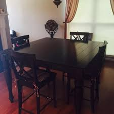4 feet tall table find more distressed dark wood farm style dining table w leaf 4