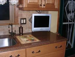 kitchen television ideas cabinet tv for kitchen home design