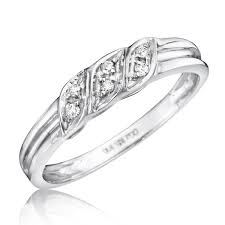 wedding ring white gold 1 15 carat t w diamond women s wedding ring 10k white gold