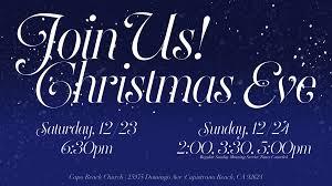 christmas eve services sunday capo beach church