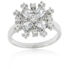 snowflake engagement ring icz stonez sterling silver cubic zirconia snowflake ring free