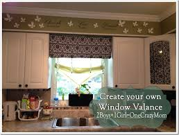 How To Make A No Sew Window Valance Make Your Own Diy Window Valance In No Time An No Sew 2 Boys