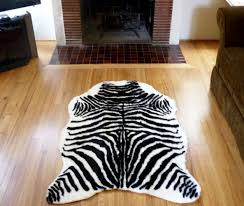 Calf Skin Rug Amazon Com Plush Black And White Faux Zebra Skin Rug From France