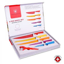 coffret de couteaux de cuisine coffret 5 couteaux couleurs imperial collection achat vente