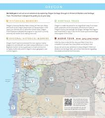 Oregon Lighthouse Map by Ote Heritage Program Online Brochure Oregon Travel Experience