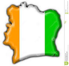 Ivory Coast Map Cote D U0027ivoire Button Flag Map Shape Stock Photo Image 4758560