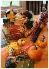 exploring fall colors with gourds preschool fall activity little